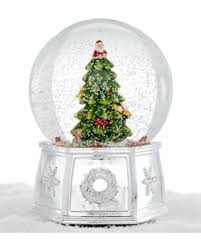 amazing deal on spode tree large snow globe