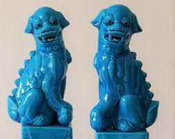 fu dogs ceramic foo dog etsy