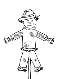 halloween scarecrow clipart black and white clipartxtras