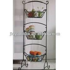 fruit basket stand floor fruit basket stand 3 tiered wicker basket floor stand dwd