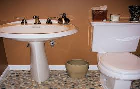 mixed pebble tile bathroom floor bathroom floor tile installation