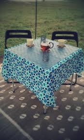 Oval Vinyl Tablecloth Top Three New Glamping Tips Martinis U0026 Marshmallows