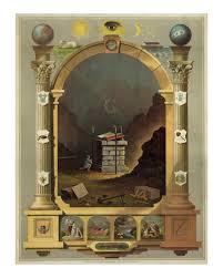 Masonic Home Decor Masonic Chart Of Symbols 1872 Vintage Freemason Art Print