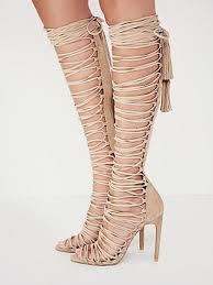 online shop women summer shoes lace up sandals rome knee high