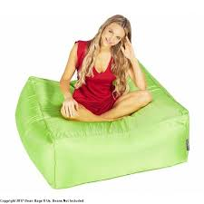 bean bag chair with ottoman square ottoman bean bags r us