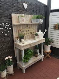 Inexpensive Potting Bench by My Cute Corner With Up Cycled Pallet Potting Bench Xoxo