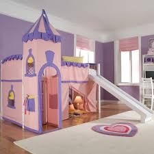 the furniture white kids bedroom set with loft bed in fancy princess themed castle loft bed decoration idea for kids girl