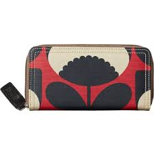 bloom wallet orla kiely bloom big zip wallet poppy