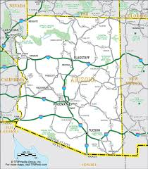 map of az arizona map