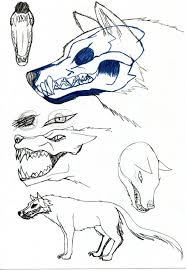 anime wolf sketch drawing sketch library