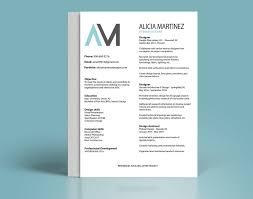 Best Resume Visual Presentation by Resume U2014 Alicia Martinez