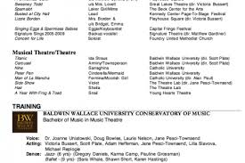 Theatre Resume Examples by Theater Resume Example Reentrycorps