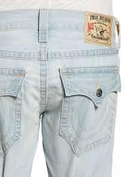 light blue true religion jeans lyst true religion ricky distressed straightleg jeans in blue for men