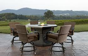 Bar Set Outdoor Patio Furniture by Agio Corseca 7pc Bar Set With Firepit Table Vootz Fire Pit Bar