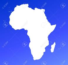 africa map high resolution africa continent map on blue gradient background high resolution