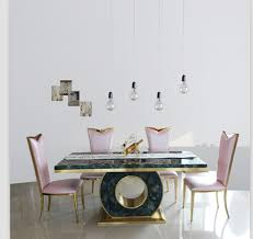 Online Get Cheap Gold Kitchen by Dining Table Set With Good Quality Marble Dining Table Black U0026rose