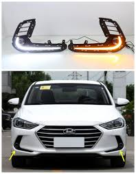 hyundai elantra daytime running lights 12v car led drl daytime running light fog l cover for hyundai