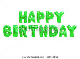 happy green color happy birthday english alphabet color green stock photo royalty