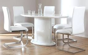 ronan extension table and chairs white oval dining table modern satin extending 6 10 seater 0 ege