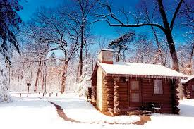 winter cabin winter white pines inn