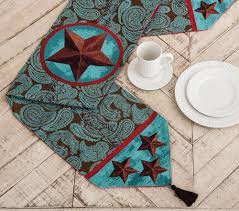 western themed table centerpieces western table runners and placemats lone star western décor