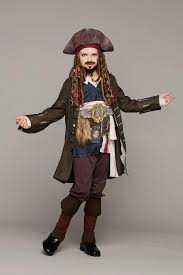 pirates of the caribbean jack sparrow costume for boys chasing