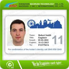 How To Make Employee Id Cards - custom design 0 76mm plastic id badge cards buy office id card
