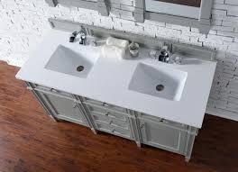 contemporary 60 inch double sink bathroom vanity gray finish no top