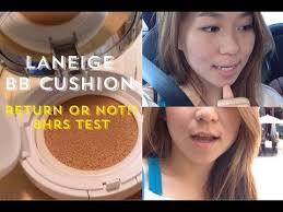 Tao Face Cushion With 2 測試一天return Or Not Laneige Bb Cushion Cherrytaooo Youtube