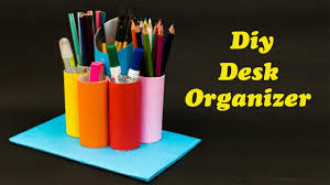desk organizer from waste materials youtube