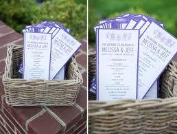 purple wedding programs jeff chesapeake bay club wedding natalie franke