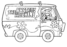 scooby doo mystery machine coloring pages coloring