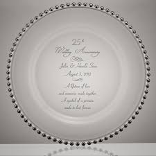 silver wedding plates point 25th wedding anniversary glass plate