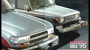 toyota land rover 1990 自動車カタログ toyota land cruiser 80 70 1990年版 hd youtube