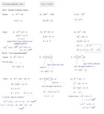 quadratic equation practice worksheet checks solving quadratic equations by factoring worksheet answers