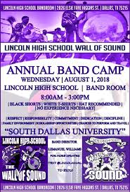 Texas How Does Sound Travel images Lincoln high school wall of sound band high school dallas