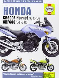 honda cb600f fs hornet and cbf600 service and repair manual 1998