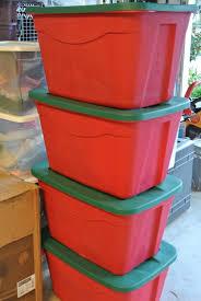 decoration sterilite ornament storage box tree storage