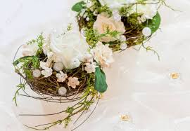 50th wedding anniversary table decorations festive table decoration in creamy white to 50th wedding anniversary