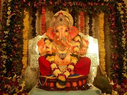 interior design view ganpati decoration themes artistic color
