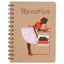 cahier de cuisine cahier de recettes cuisinière marron achat vente cahier cahier