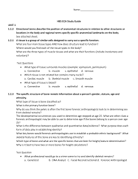 Name Hbs Eca Study Guide Unit 1 1 1 2 Directional Terms