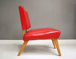Chair Rock Angus Mid Century Viking Artline Wood And Vinyl Slipper Chair By