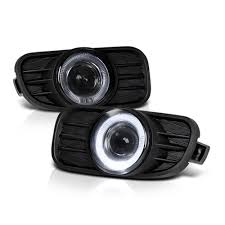 spyder jeep 99 04 jeep grand cherokee angel eye halo projector fog lights smoked