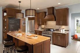 beautiful brown lowes kitchen cabinets design with gas stove
