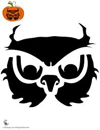 Pumpkin Halloween Templates - owl pumpkin stencil woo jr kids activities