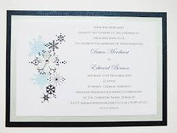 Snowflake Wedding Invitations Winter Weddings