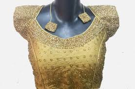 golden blouse golden temple blouse with embroidery a must for your sarees