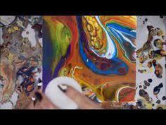 mix then pour acrylic painting technique painting pinterest