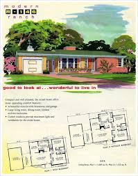 1950s modern home design ranch house plans vintage plan from the 1950s 60s home 1960s floor